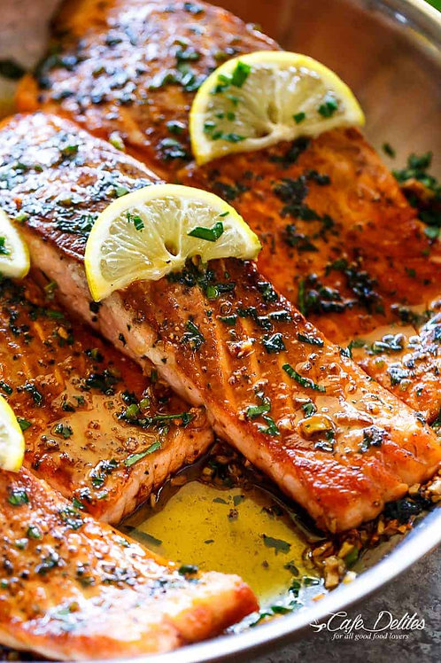 Olive Oil and Herb Salmon Fillets (gluten-free). Size 1/2 Pan
