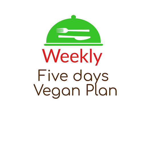 FIVE DAYS VEGAN PLAN,  LUNCH AND DINNER, TWO LUNCHES OR TWO DINNERS. 10 Meals