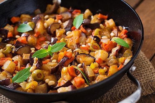 Sicilian Caponata (vegan, gluten-free). Size 1/2 Pan