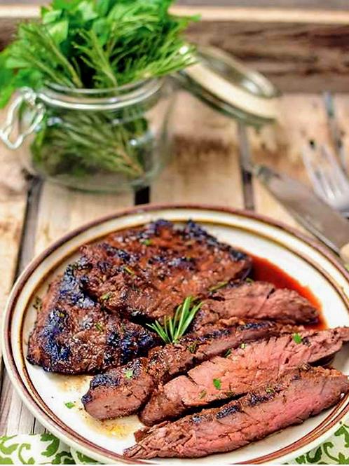 Herb Marinated Flank Steak (gluten-free). Size 1/2 Pan