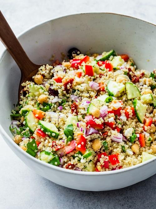 Mediterranean Quinoa Salad (vegan)                                   Size: ½ Pan