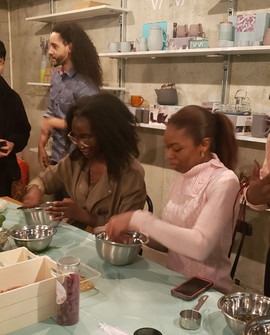 Guests interacting at the Made With Love Workshop