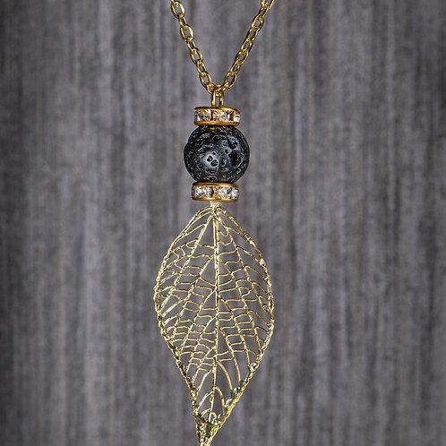 Gold Leaf Diffuser Necklace