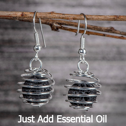 Wrapped coil Aromatherapy Earings