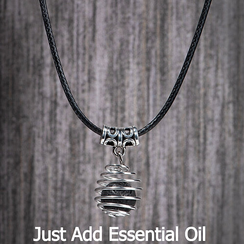 Wrapped Coil Aromatherapy Necklace