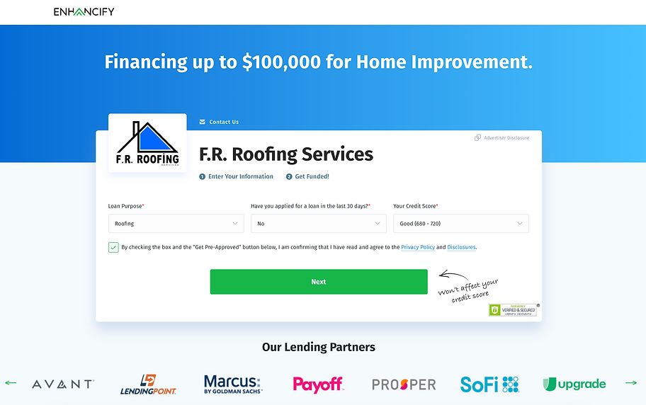 F.R. Roofing Services Financing.png