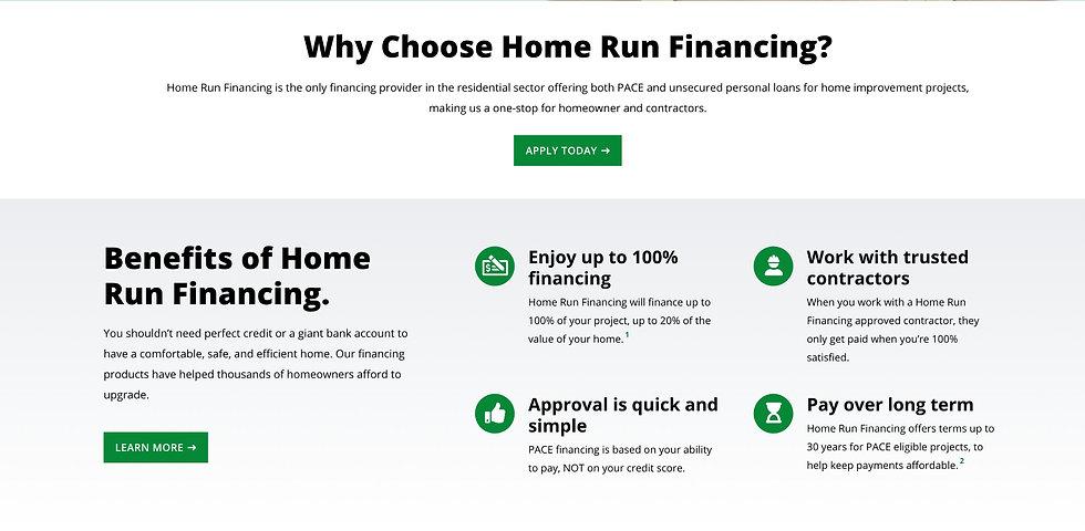 Homerun/Pace Financing