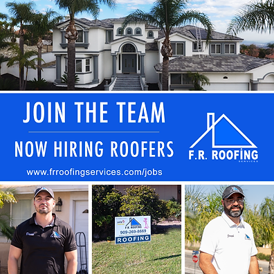 F.R. Roofing Services Now Hiring Roofers