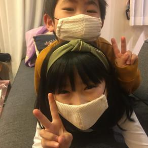 I'm OK becuase of my hand-made mask