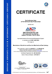 Certificate - ISO 14001 : 2015