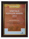 Best Overall Performance Award - Wartsila