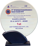 Best Kaizen 5S and Safety Award by CII