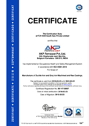 Certificate - ISO 45001 : 2018