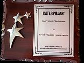 Best Velocity Performance Award - Caterpillar