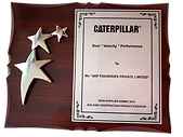 Best Velocity Performance Award - Caterpillar