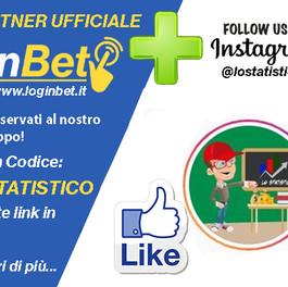 "La pagina Instagram de ""LO STATISTICO"" diventa partner ufficiale di LoginBet"