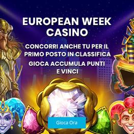 """Bonus Casinò LoginBet: """"EUROPEAN WEEK CASINO"""""""