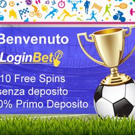 Benvenuto su LoginBet: per te 10 Free Spins senza deposito + 100% primo deposito
