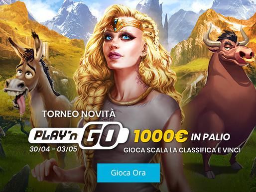 LoginBet Casinò: al via il TORNEO NOVITA' di Play'n GO!