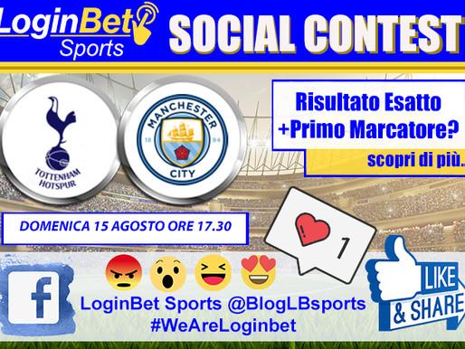#WeAreLoginbet: il contest social che ti premia se indovini il risultato di Tottenham Vs Man. City!