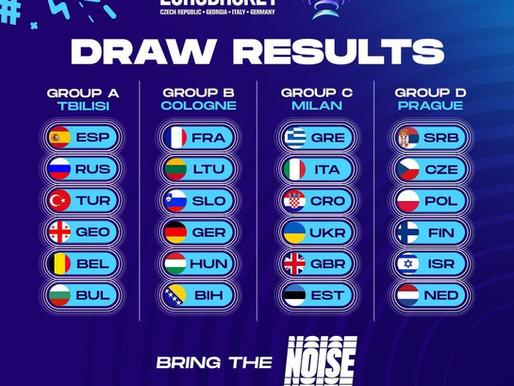 Europei basket 2022: Italia nel girone con Croazia e Grecia