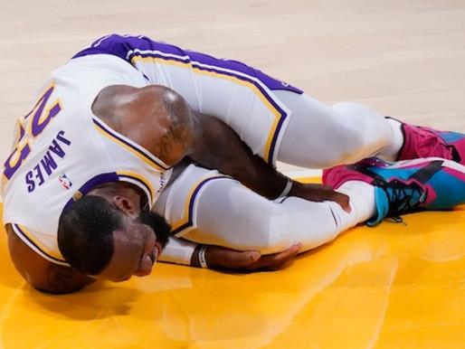 NBA, Lakers: brutto infortunio per LeBron James