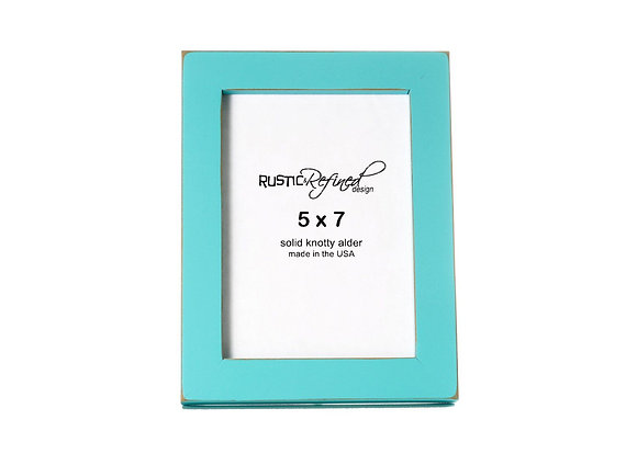 """5x7 Gallery 1"""" picture frame - Turquoise"""