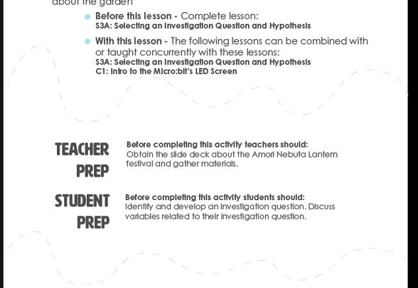 Worksheet example for educators