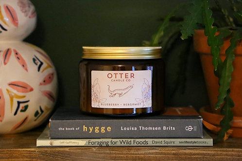 XL Blueberry & Bergamot - Amber jar