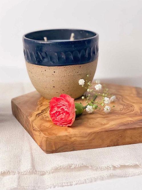 Otter Candle Co x D Moon Ceramics - Black Pot
