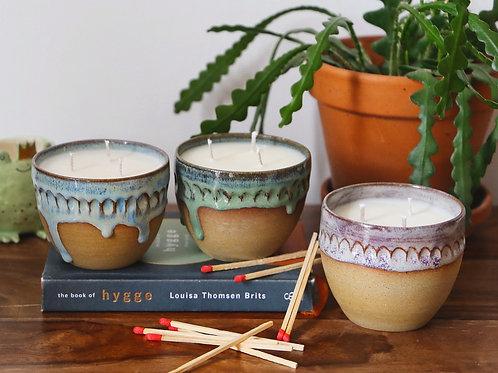 Otter Candle Co x D Moon Ceramics