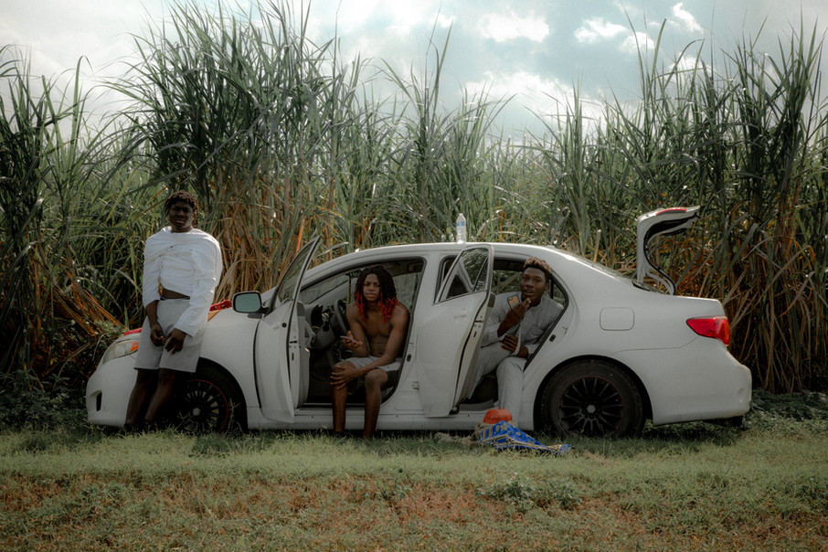 Cast in director's car