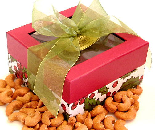 Holly Berry Cashew Gift Box