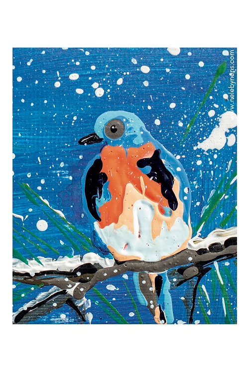 Postkaart winter met envelop