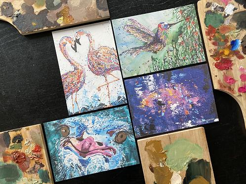 Set van 4 postkaarten 10x15cm
