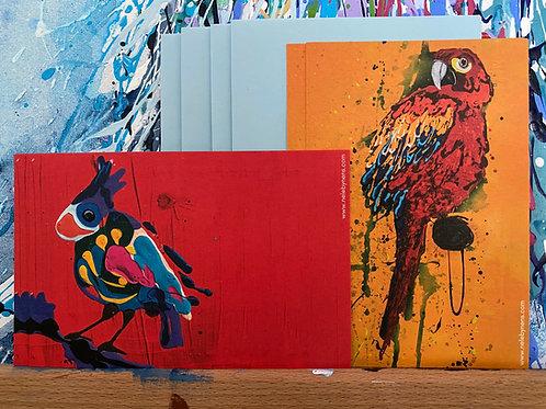 Set 'HAPPYBIRDS' 4 stuks