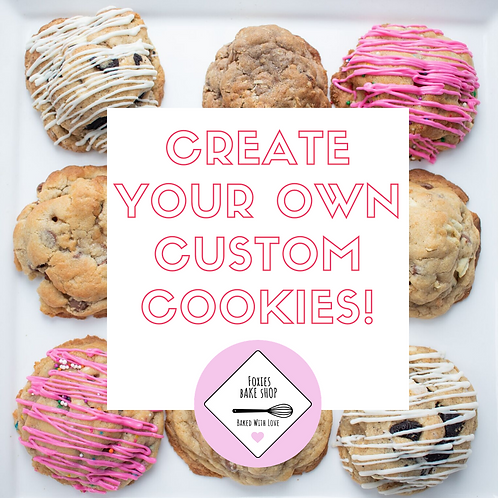 Create Your Own Custom Cookies (12 per order)