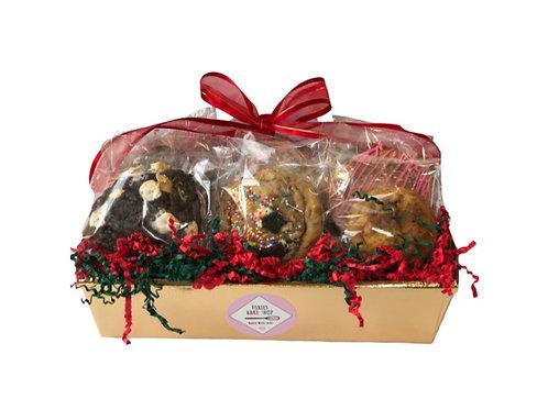 Medium Holiday Cookie Gift Basket