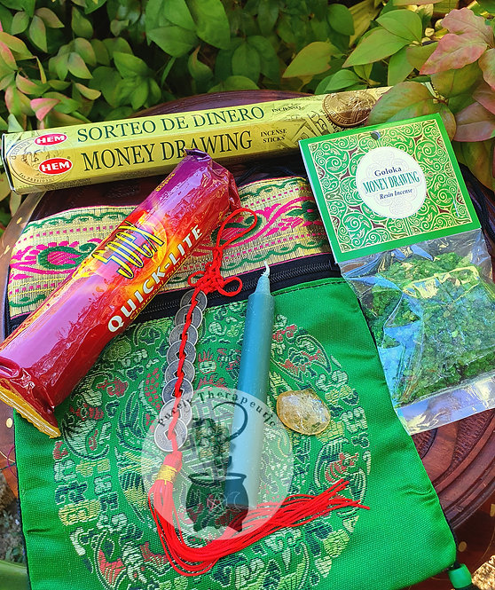 Green Money Drawing Kit Pack for manifesting wealth