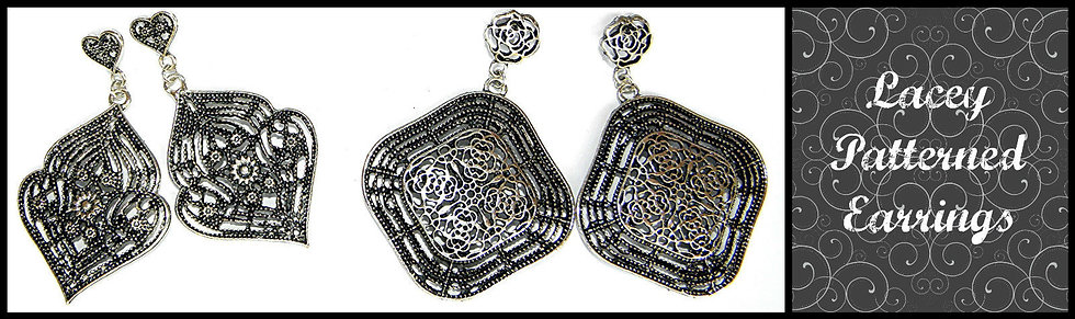 Large Lacey Style Earrings