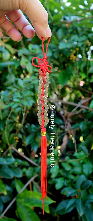 String of 8 Feng Shui Good Luck Coins