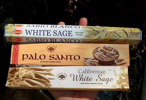 White Sage Palo Santo Hem Green Tree Incense Sticks