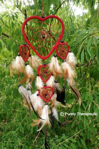 Love Heart Dream Catcher Red