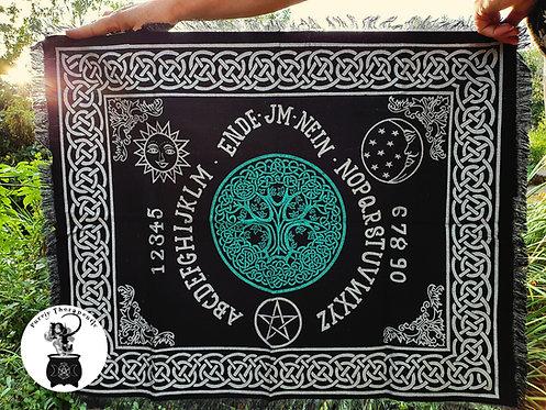 Ouija Board Tree of Life Altar Ritual Cloth