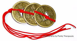 Feng Shui coins for attracting wealth and abundance.