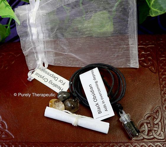 Gemstone Crystal Healing Pack for Depression