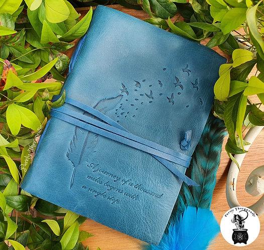 Teal Blue Jade Color Leather Journal
