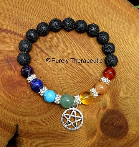 Pentagram Chakra Stretch Bracelet