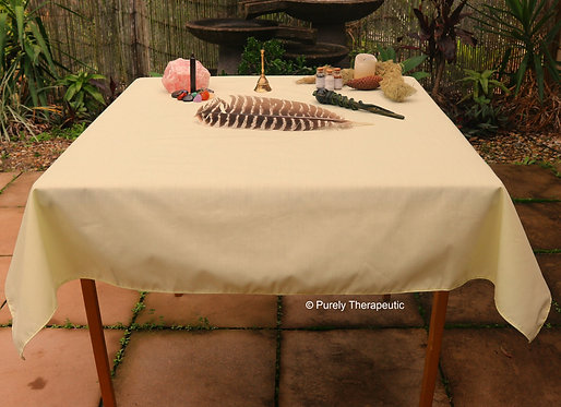 Altar Tarot Table Cover Yellow