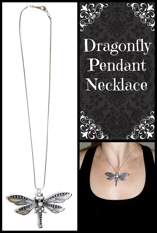 Dragonfly Diamante Pendant Necklace